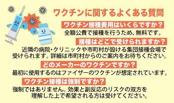 コロナワクチンに関するよくある質問 近藤だいすけ県政ニュースvol.41